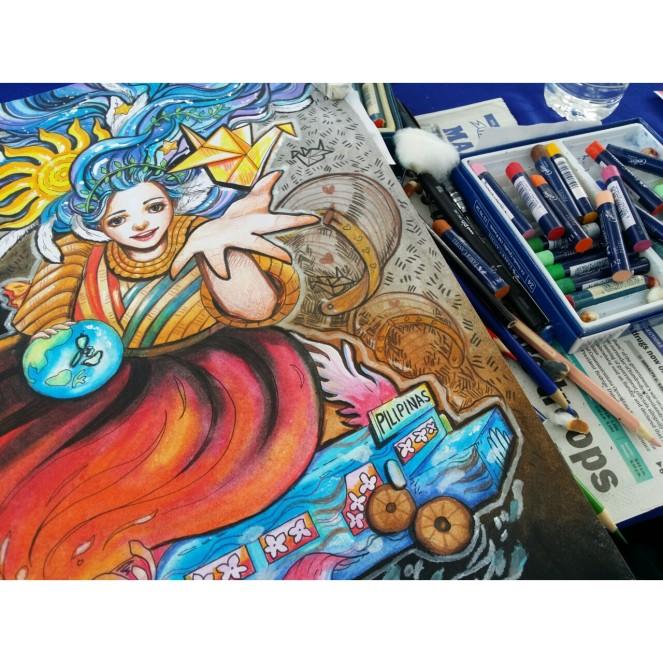 Ena Beleno Artworks Manila Bulletin Sketch Fest