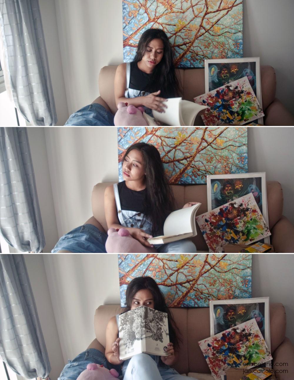 Ena Beleno Paintings Photoshoot