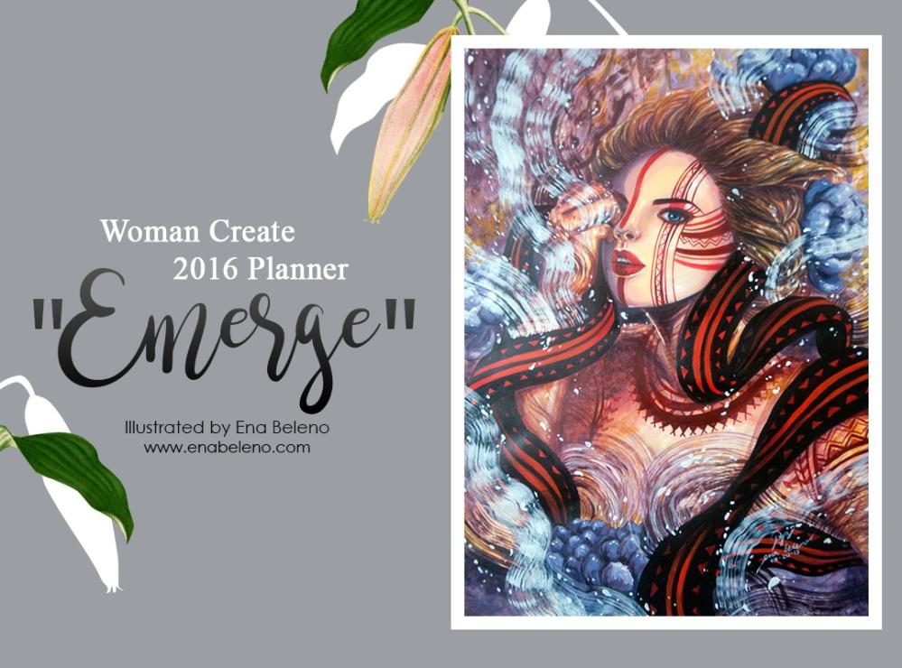Ena Beleno Woman Create 2016 Planner