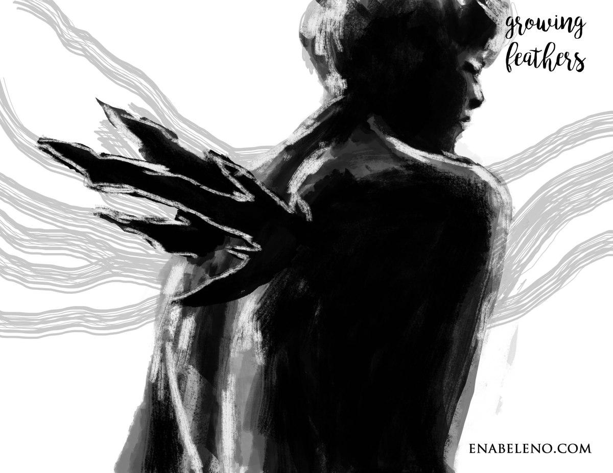 Human Wings Drawing
