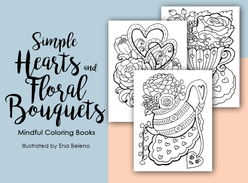 simple-hearts-floral-bouquets-coloringbook-ena-beleno