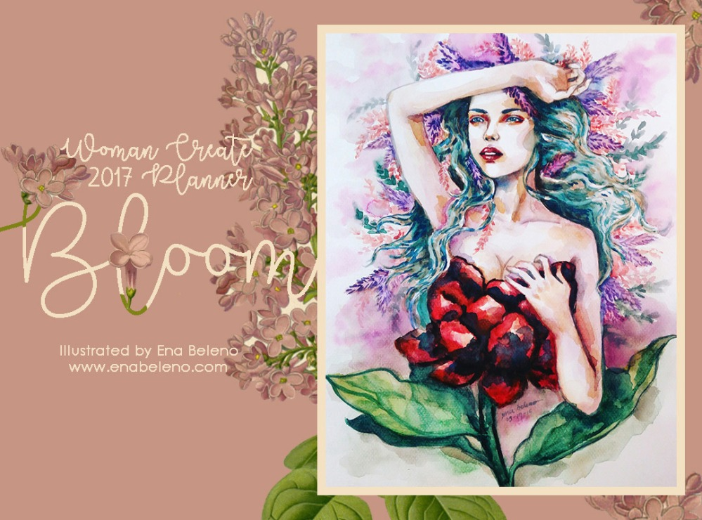Ena Beleno Artwork Woman, Create 365 wonders 2017 Planner
