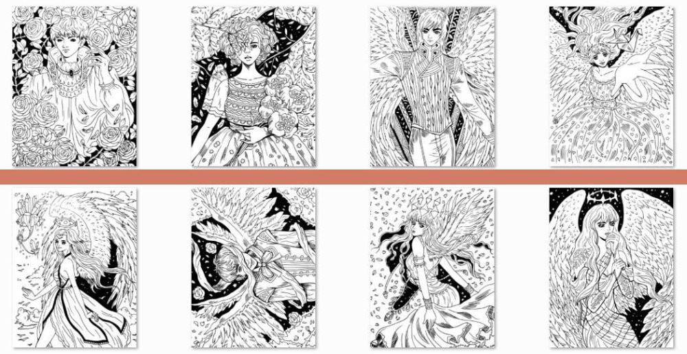 Fallen Angels Coloring Book at amazon by ENA BELENO