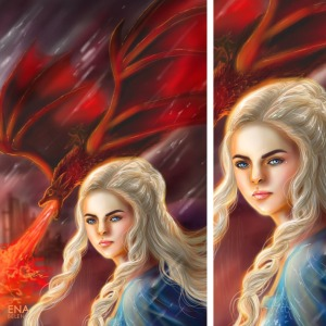 Game of Thrones Fantasy Illustration Digital Painting by Ena Beleno