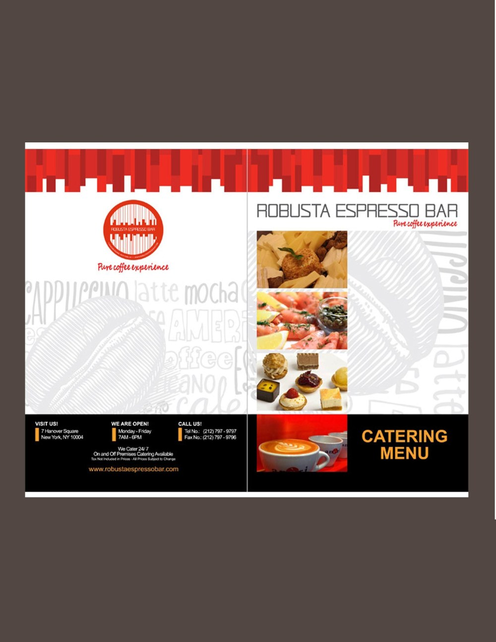 ena beleno menu graphic design