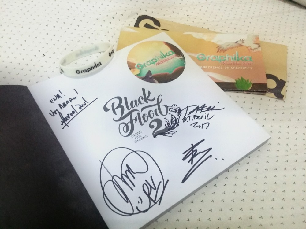 Signed by some of the speakers - Graphika Manila 2017