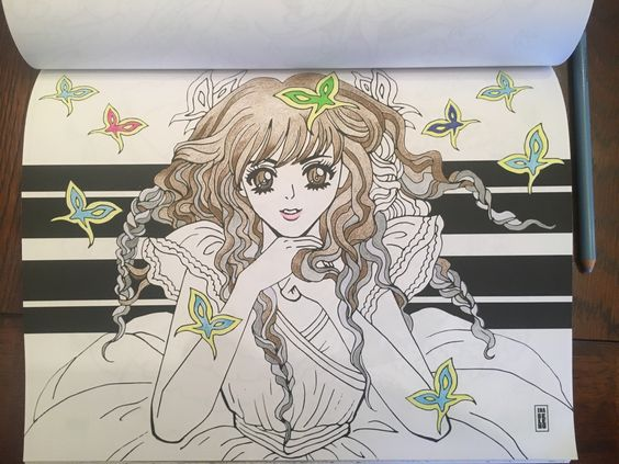Colored Coloring Page by Ena Beleno