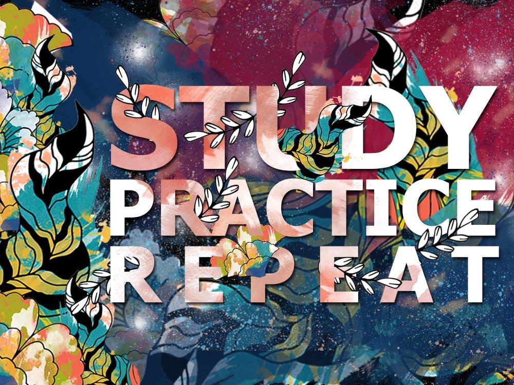study-repeat-practice