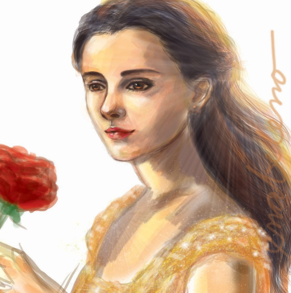 Belle Emma Watson Fan Art - Beauty and the Beast
