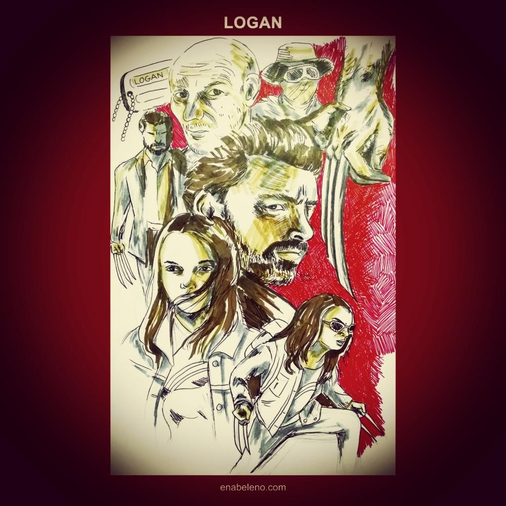 Logan Wolverine Fan Art by Ena Beleno