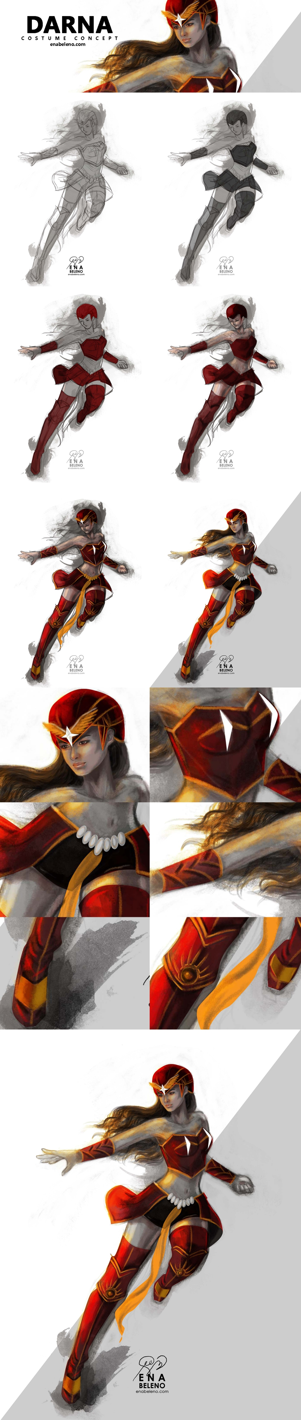 DARNA Costume Concept Digital Painting Tutorial by Ena Beleno