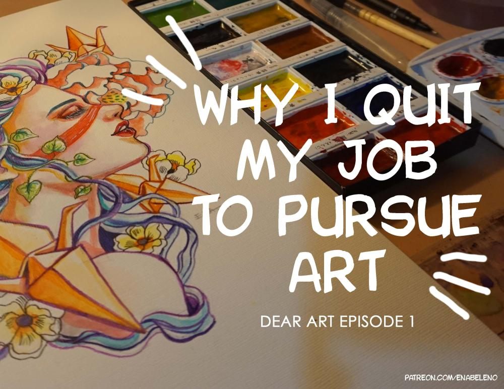 Art Update Quit Job to Pursue Art Career
