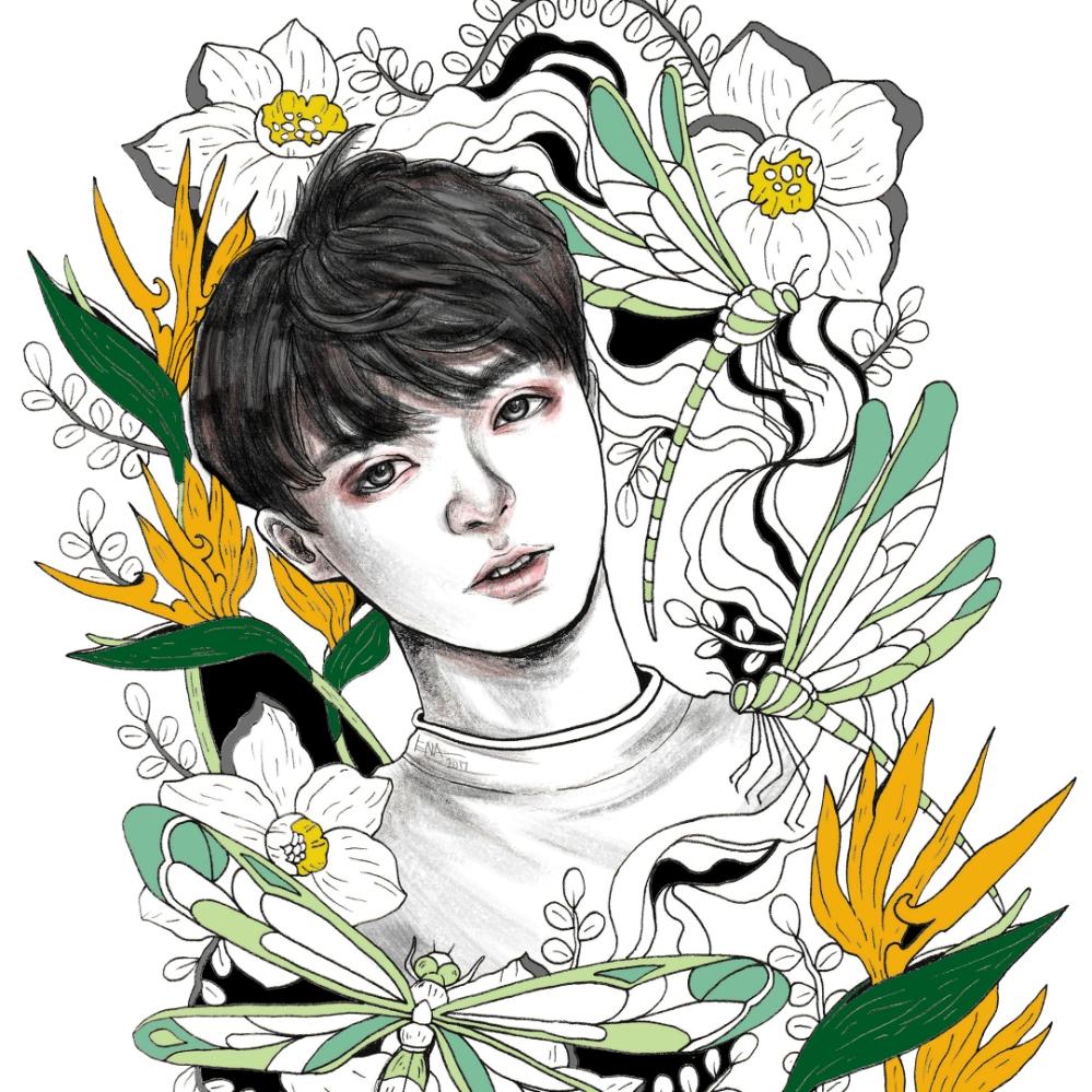 BTS Bangtan Boys Fanart Inktober 2017