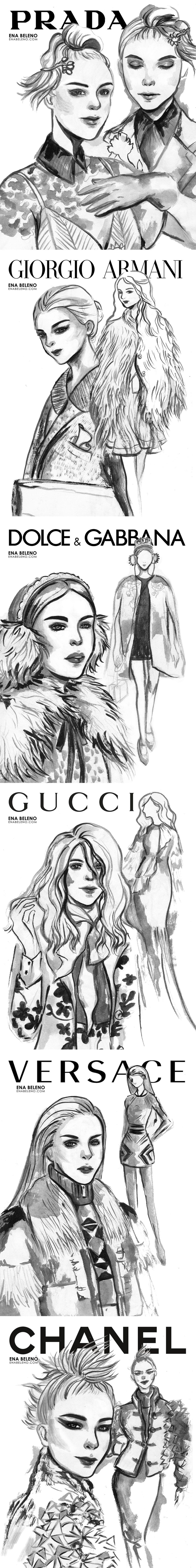 Fashion Illustration by ena beleno