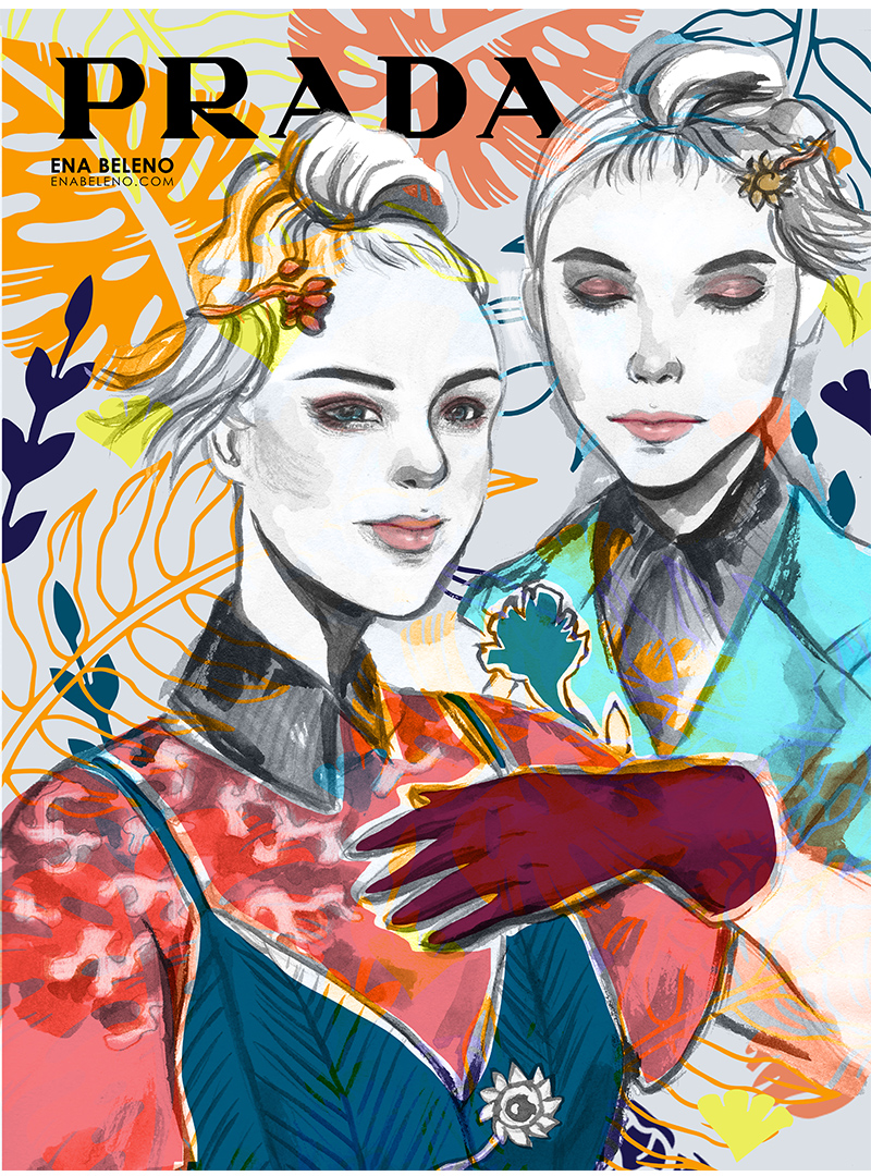 Fashion Illustration by Ena Beleno