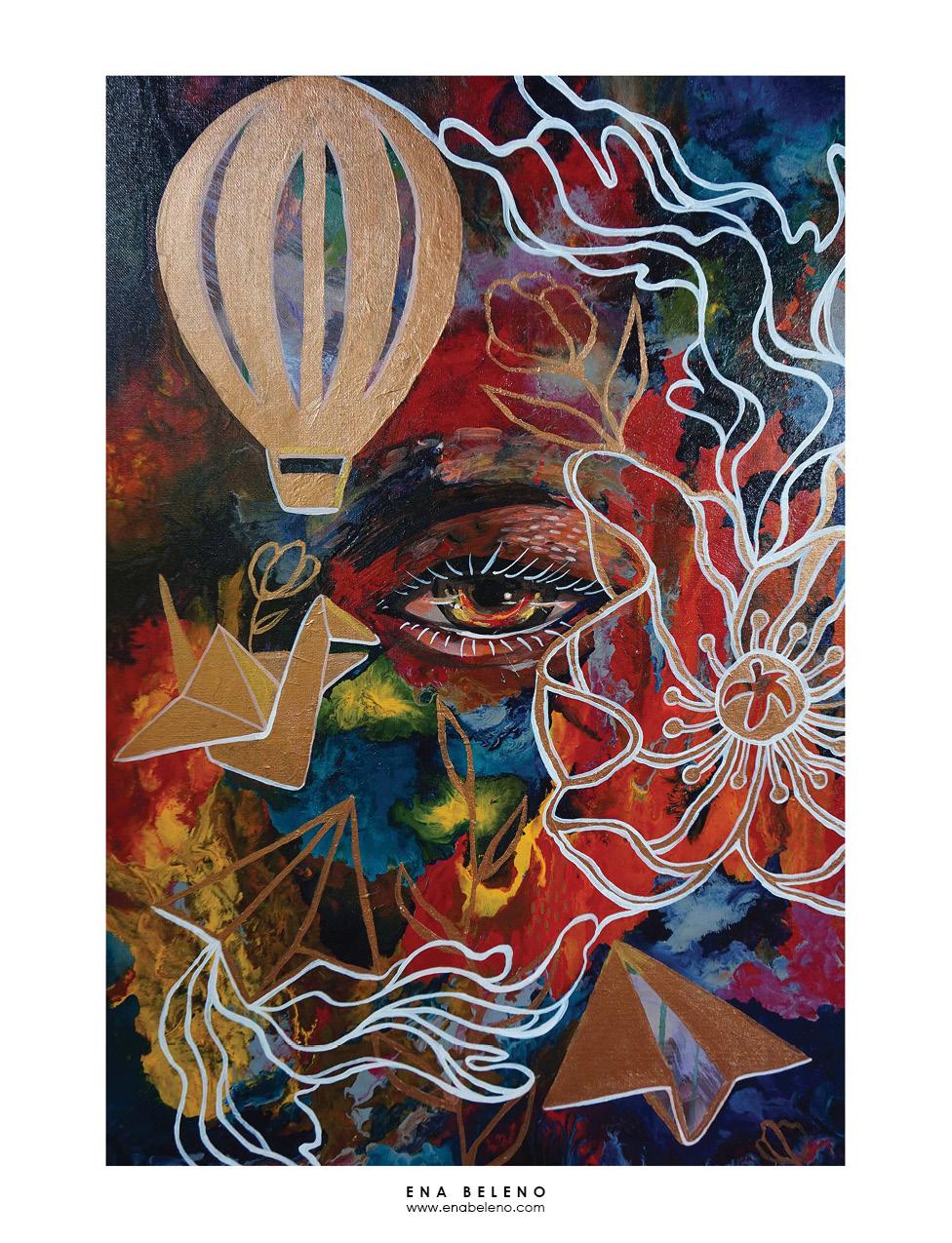 Ena Beleno acrylic painting