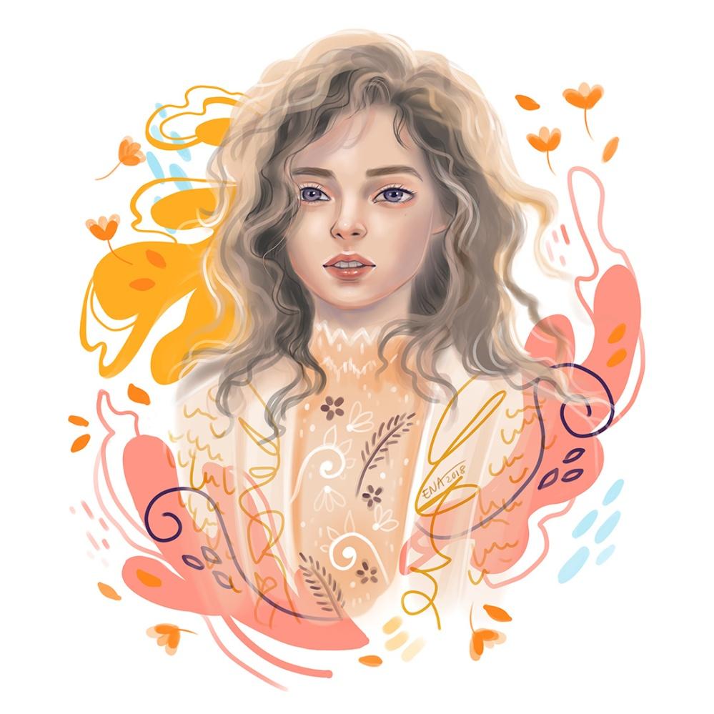 woman portrait ena beleno